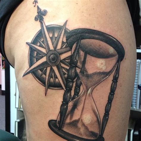 Compass Hourglass Tattoo | compass and hourglass tattoos categories tattoo