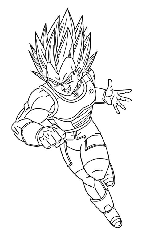 dragon ball z coloring pages vegeta super saiyan super saiyan blue vegeta coloring page by sanorace on