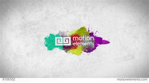 Watercolor Logo Reveal V 1 After Effects Templates 9106502 Watercolor Logo Template