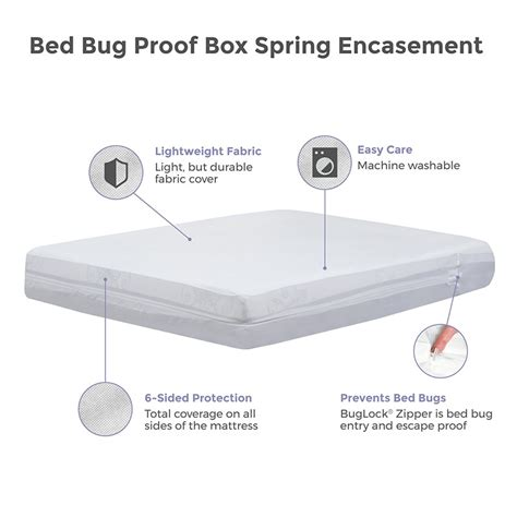 bed bug box spring cover protect a bed basic bed bug proof box spring cover 6 sided