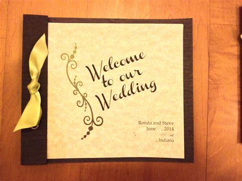 Wedding Card Cover Page by Wedding Programs Crafty Wedding