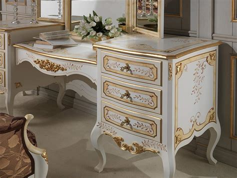 Vintage Schlafzimmer Vanity by Classic Louvre Bedroom Ivory Dressing Table Vimercati
