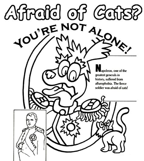 crayola coloring cat page napoleon and cats crayola co uk