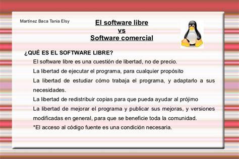 que es el layout comercial software libre vs software comercial