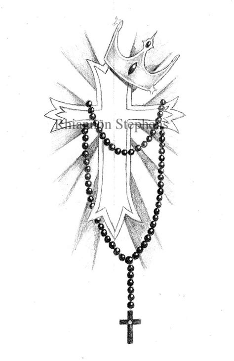 cross with rosary rosary designs picture own