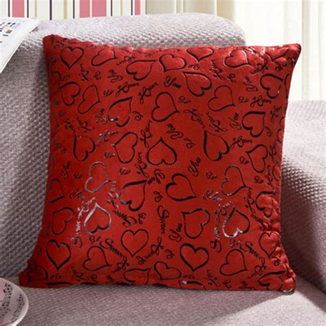 bed decor pillows heart throw pillow cases decorative cushion cover square