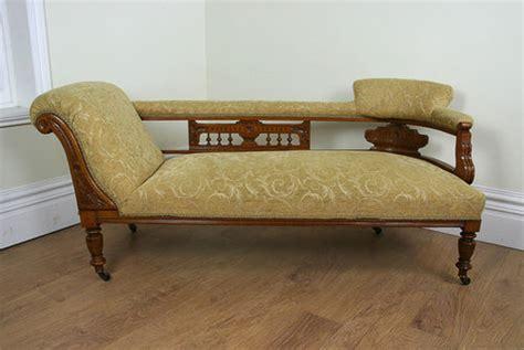 edwardian chaise lounge edwardian oak end chaise longue c 1901 antiques