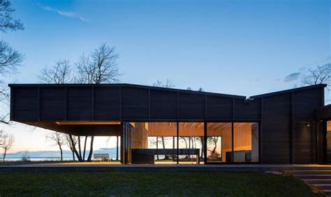 living roof michigan stunning michigan lake house is built from dying ash