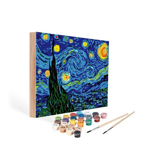 paint nite kits paint by number starry easy 123