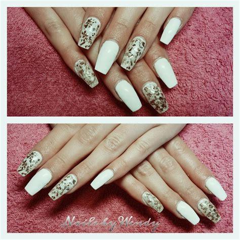 Gelnagels Met Glitter by 1000 Idee 235 N Witte Glitter Nagels Op