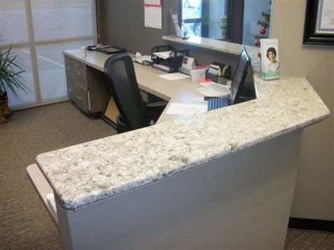 Countertop Office Desk 17 Best Images About Reception Desks On Subaru Dealerships Cambria Quartz And Sioux