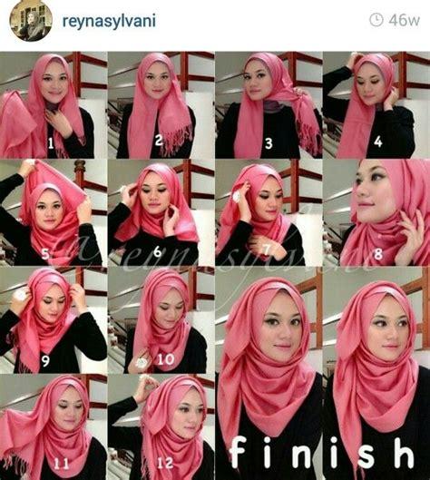 tutorial hijab segi empat polos cara berhijab terbaru yang mudah untuk dipelajari
