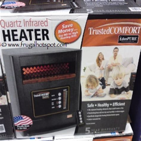 edenpure trusted comfort costco deal trustedcomfort quartz infrared heater 199 99
