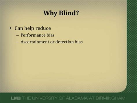 Importance Of Blinding In Clinical Trials blinding in clinical trials
