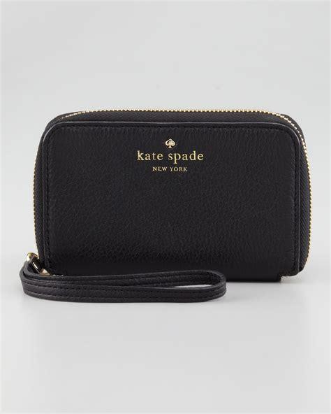 Kate Spade St Wallet kate spade louis phone wristlet wallet in black lyst