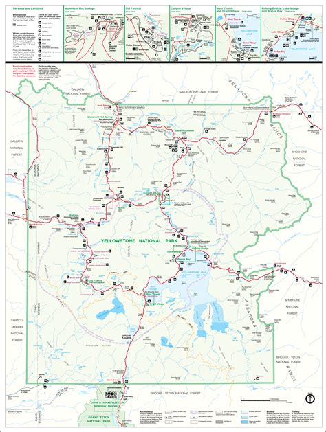 map usa yellowstone park yellowstone national park map images