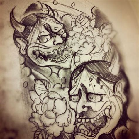 tattoo oriental demonio 17 best ideas about hannya mask tattoo on pinterest oni