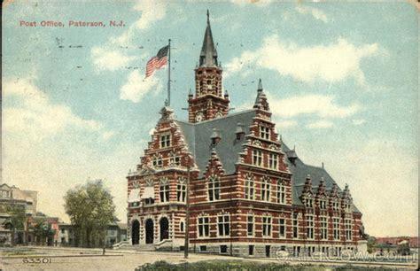 post office building paterson nj postcard