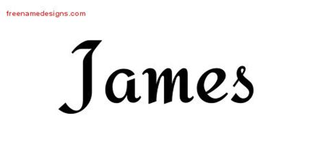 tattoo lettering james james archives free name designs