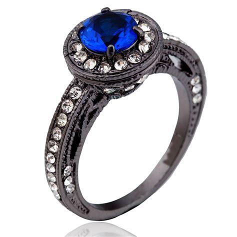 5 11 Blue Black ᗛsize 5 11 black ᗐ rhodium rhodium engagement wedding blue