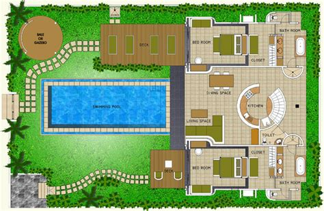 2 floor villa plan design space at bali villa layout
