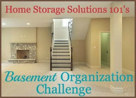 basement organization with step by step