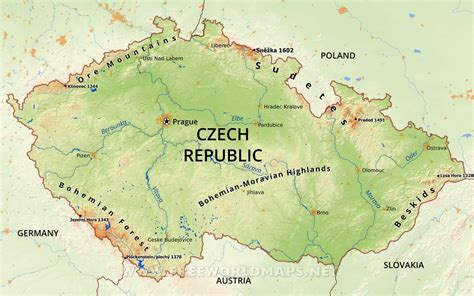 map of republic republic physical map