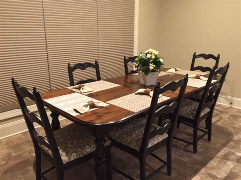 Refinished Dining Room Table by Refinishing Dining Table
