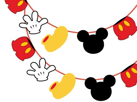 printable mickey banner pin pattern mickey cake ideas and designs