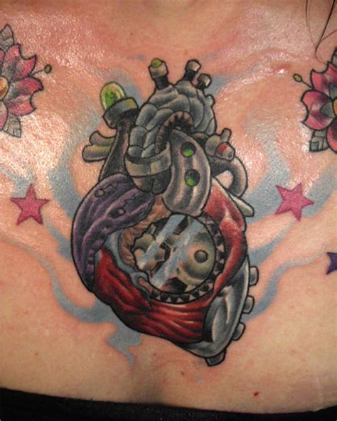 mechanical heart tattoo mechanical tattoos www pixshark images