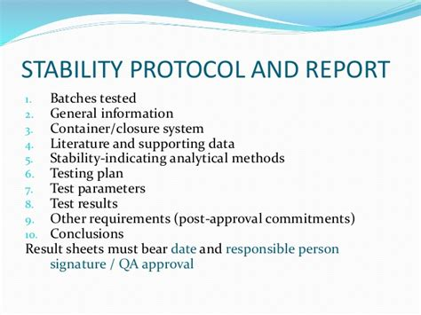 stability study protocol template ich guidelines and protocols