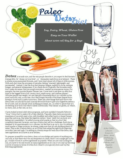 Paleo Detox Plan by The Fitness Equation Diet Tip Of The Day Paleo Diet