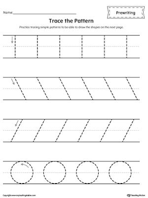 Pre Writing Strokes Worksheets by Free Worksheets 187 Prewriting Strokes Worksheets Free