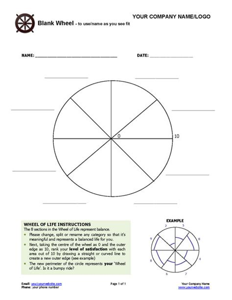 blank performance profile wheel template blank coaching wheel coaching tools from the coaching tools company