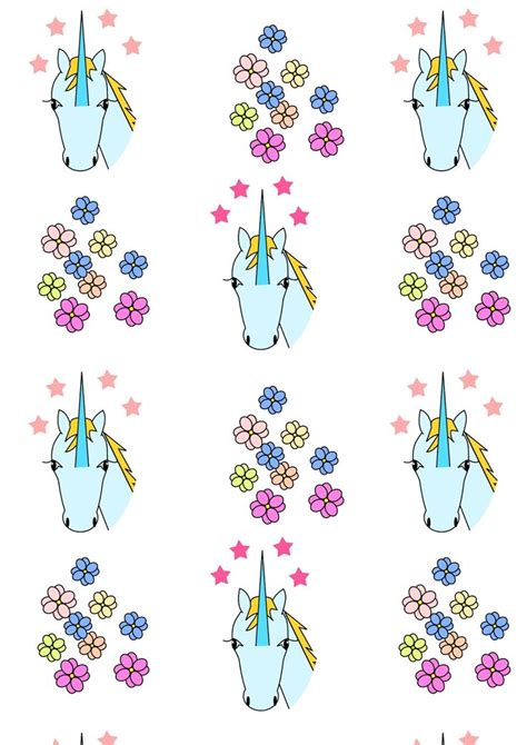unicorn craft pattern free printable unicorn pattern paper unicorn free