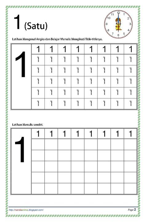 Latihan Menulis Angka belajar mengenal dan menulis angka 123