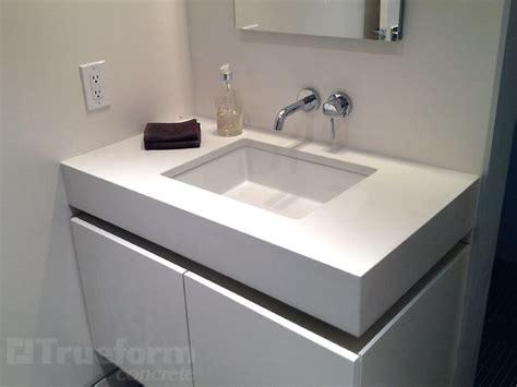 undermount concrete countertop white concrete vanity top with undermount concrete