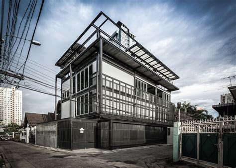 steel structure house design structural steel gives space saving tin man house an industrial chic vibe in bangkok