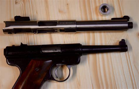 barrel 22 pistol updating the ruger 22 semi auto pistol threaded barrel