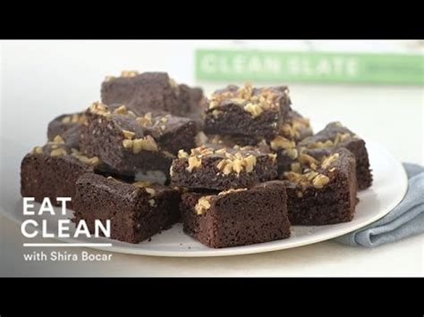 gluten free chocolate walnut brownies eat clean with