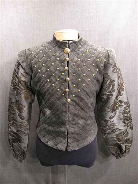 Quilted Doublet by Doublet Renaissance Quilted Grey Clothing 2 Renaissance