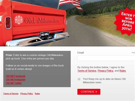 Win A Truck Sweepstakes 2016 - the custom old milwaukee truck text to win sweepstakes sweepstakes fanatics
