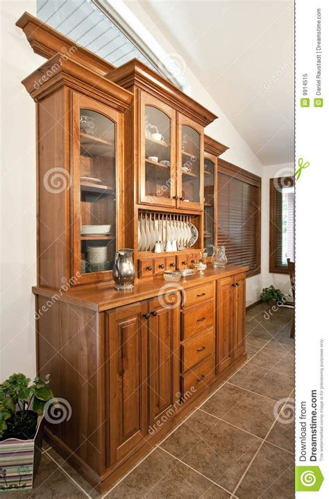 Dining Room Hutch Buffet stock image. Image of curio, drawer   9914515