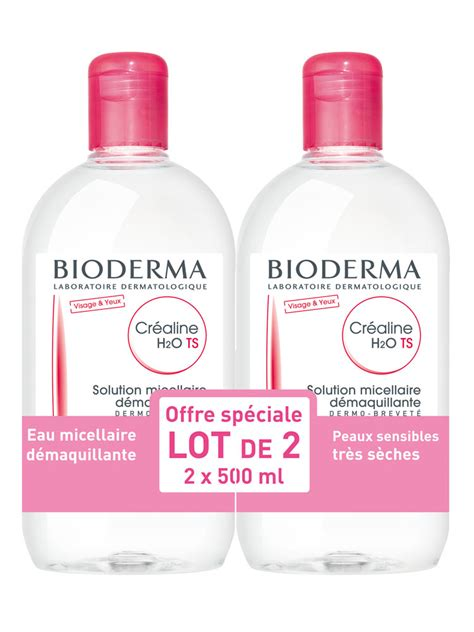 Bioderna Sensibio Cleanser H20 500ml bioderma crealine sensibio ts h2o micelle solution 2 x 500ml