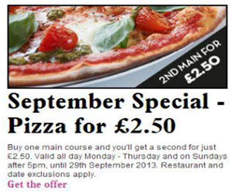 discount vouchers pizza express pizza express coupon for pizza for only 163 2 50