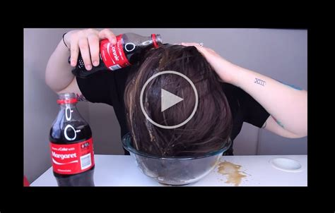 rinsing hair with coke coke rinse hair 5 cleaning products you should not