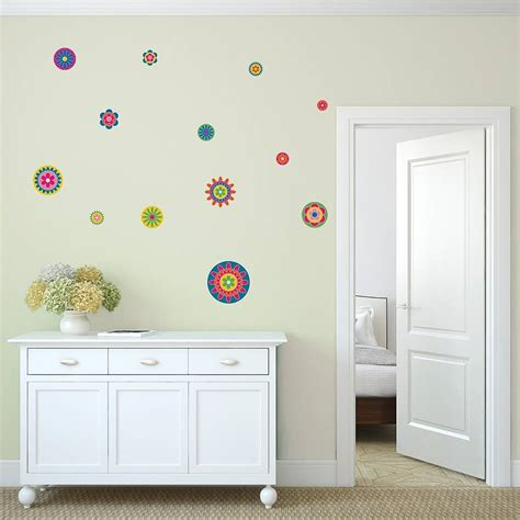 wall sticker patterns bright flower pattern wall stickers by mirrorin notonthehighstreet