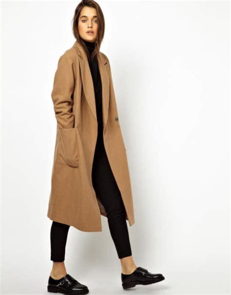 Fashion Bag Import Rv7833 Camel asos wrap front oversized coat camel size uk8 10 eu36 38