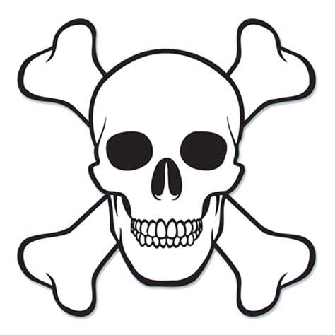 imagenes de calaveras dibujadas skull and cross bones cutout