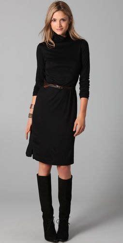 Janna Dress dress black turtleneck dress boots and monaco